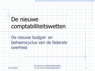De nieuwe comptabiliteitswetten