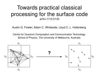 Towards practical classical processing for the surface code arXiv:1110.5133