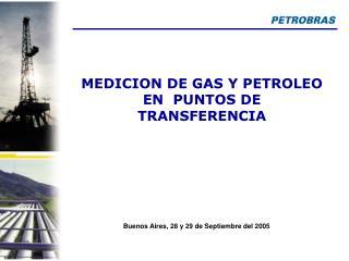 MEDICION DE GAS Y PETROLEO EN  PUNTOS DE TRANSFERENCIA