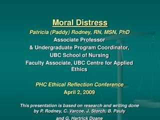 Moral Distress