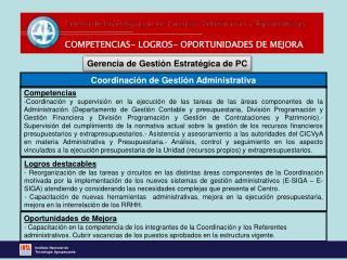 COMPETENCIAS- LOGROS- OPORTUNIDADES DE MEJORA