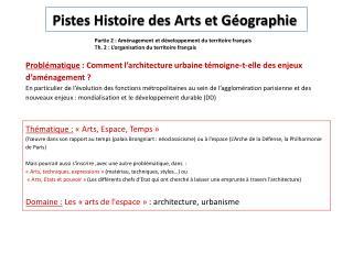 Partie 2: Aménagement et développement du territoire français