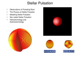 Stellar Pulsation