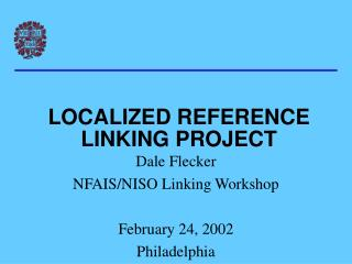 LOCALIZED REFERENCE LINKING PROJECT