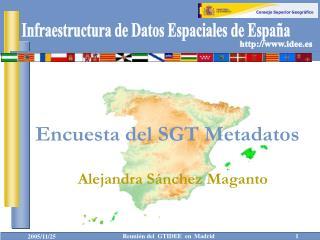 Encuesta del SGT Metadatos