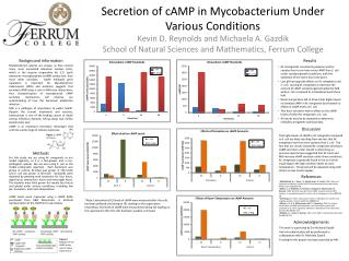 Secretion of cAMP in Mycobacterium Under Various Conditions