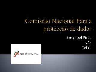 Comissão Nacional Para a protecção de dados