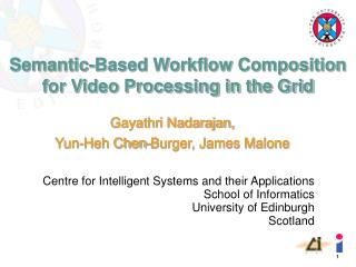 Semantic-Based Workflow Composition for Video Processing in the Grid