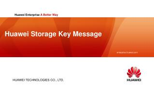 Huawei Storage Key Message