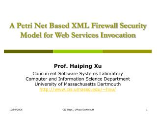 A Petri Net Based XML Firewall Security Model for Web Services Invocation