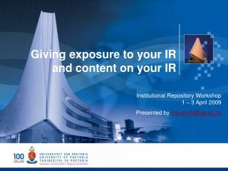 Giving exposure to your IR and content on your IR