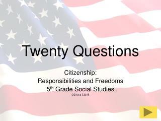 Twenty Questions