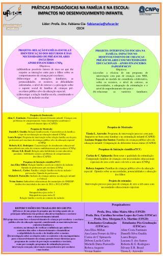 Líder: Profa. Dra. Fabiana Cia-  fabianacia@ufscar.br CECH