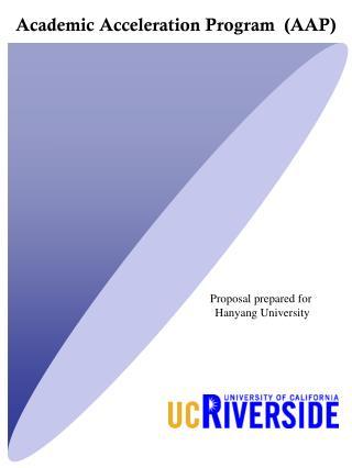 Academic Acceleration Program  (AAP)