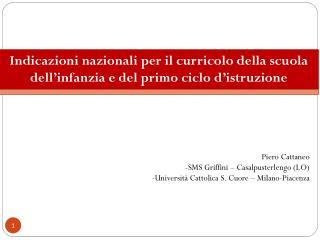 Piero Cattaneo SMS Griffini � Casalpusterlengo (LO)