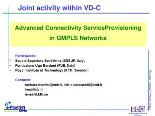 Joint activity within VD-C
