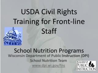 USDA Civil Rights Training for Front-line Staff School Nutrition Programs