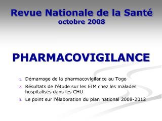 Revue Nationale de la Santé  octobre 2008