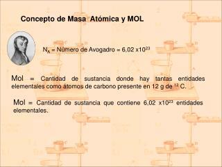 Concepto de Masa  Atómica y MOL