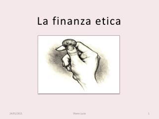 La finanza etica