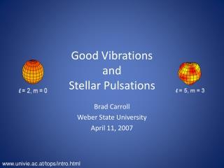 Good Vibrations and Stellar Pulsations