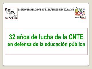 COORDINADORA NACIONAL DE TRABAJADORES DE LA EDUCACIÓN