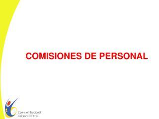 COMISIONES DE PERSONAL