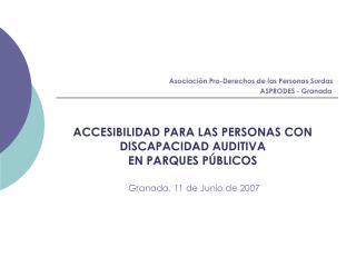 Asociación Pro-Derechos de las Personas Sordas