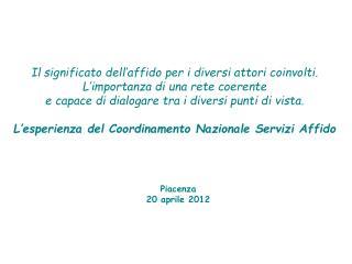 Piacenza 20 aprile 2012