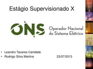 Estágio Supervisionado X