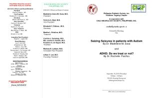 Philippine Pediatric Society, Inc.     Southern Tagalog Chapter  In ooperation with