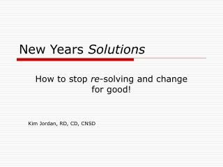 New Years  Solutions