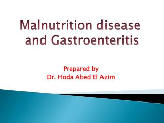 Prepared by  Dr. Hoda Abed El Azim