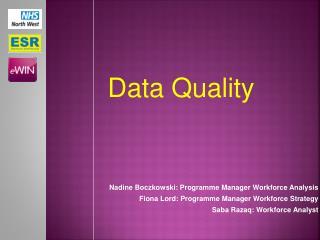 Nadine Boczkowski: Programme Manager Workforce Analysis
