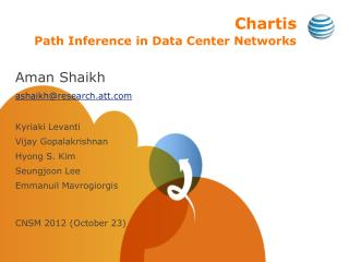 Chartis Path Inference in Data Center Networks