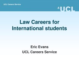 Law Careers for  International students