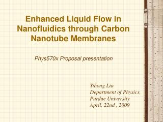 Enhanced Liquid Flow in Nanofluidics through Carbon Nanotube Membranes
