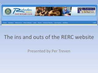 The ins and outs of the RERC website