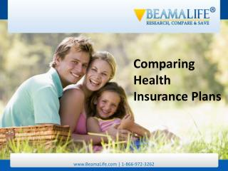 Comparing Health Insurance Plans