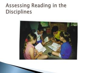Assessing Reading in the Disciplines