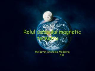 Rolul campului magnetic terestru