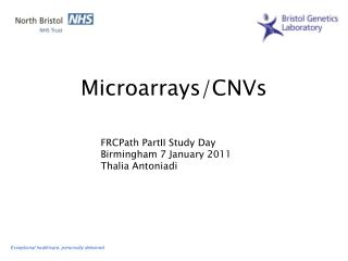 Microarrays/CNVs