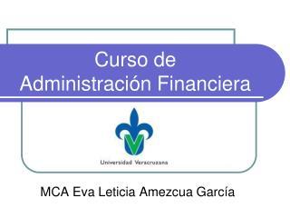 Curso de  Administración Financiera