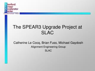The SPEAR3 Upgrade Project at SLAC