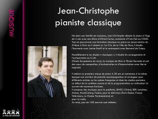 Jean-Christophe pianiste classique