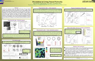 Percolation in Living Neural Networks Ilan Breskin,  Jordi Soriano , Tsvi Tlusty, and Elisha Moses