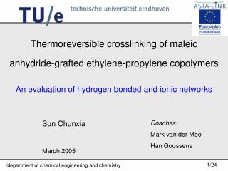 Thermoreversible crosslinking of maleic anhydride-grafted ethylene-propylene copolymers