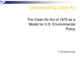 Commanding Clean Air