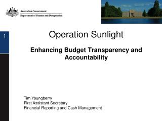 Operation Sunlight Enhancing Budget Transparency and Accountability