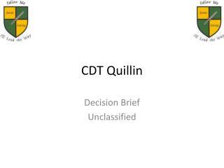 CDT Quillin